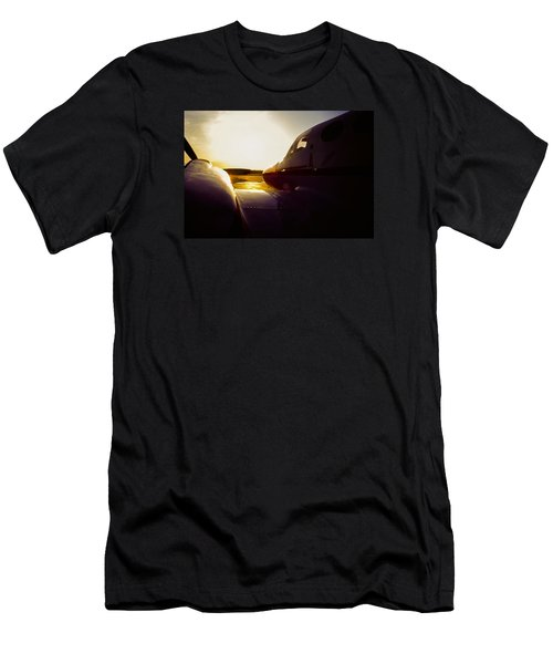 Cessna 421c Golden Eagle IIi Silhouette Men's T-Shirt (Athletic Fit)