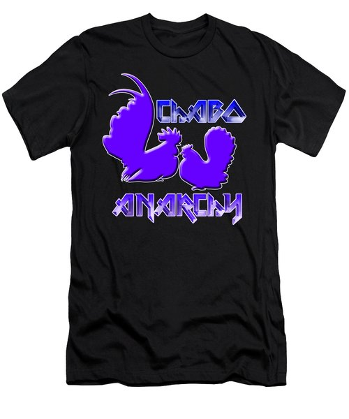 Chabo Anarchy Bluepurple Men's T-Shirt (Athletic Fit)