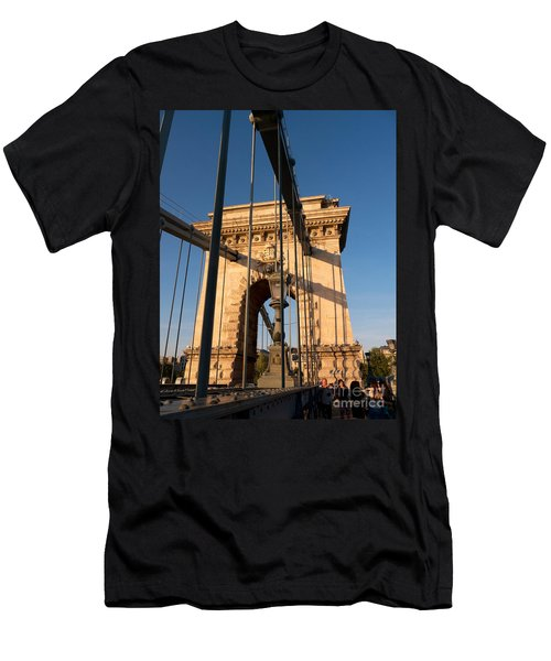 Chain Bridge Budapest  Men's T-Shirt (Athletic Fit)