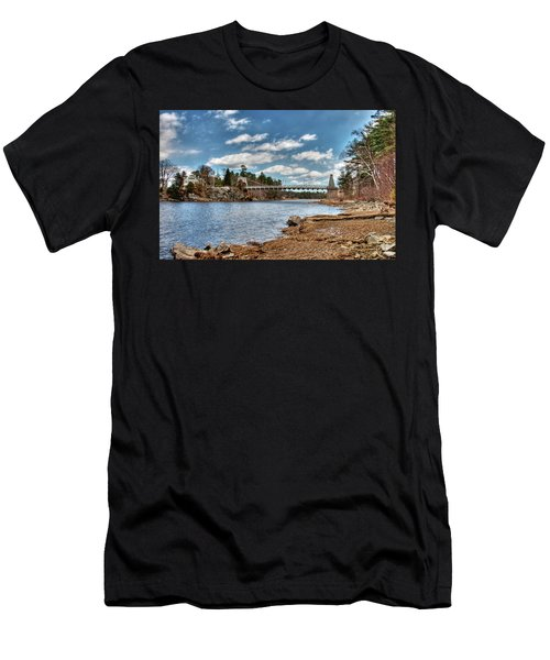 Chain Bridge On The Merrimack Men's T-Shirt (Athletic Fit)