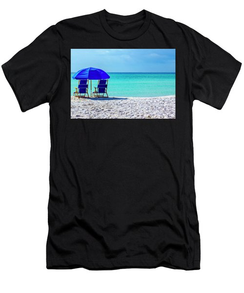 Beach Chair Pair Men's T-Shirt (Athletic Fit)