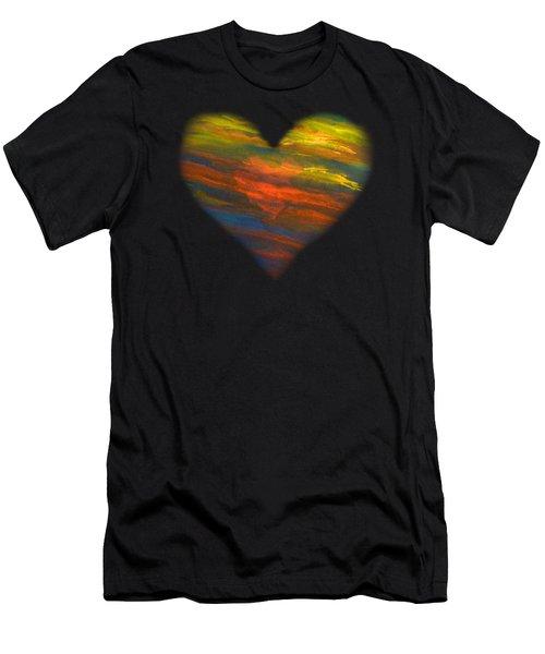 Chakra Energy With Heart Men's T-Shirt (Slim Fit) by Deborha Kerr