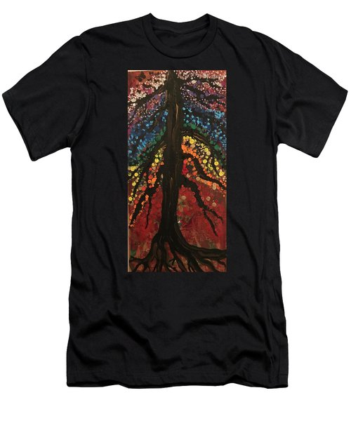 Chakra Tree Men's T-Shirt (Athletic Fit)