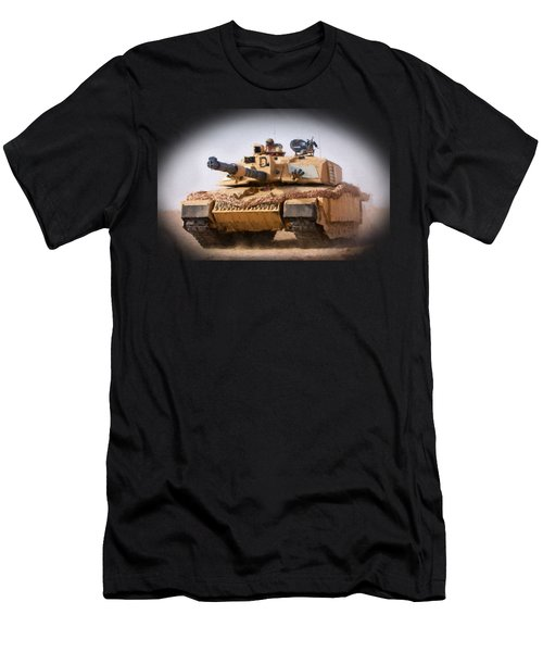 Challenger Tank Painting Men's T-Shirt (Athletic Fit)
