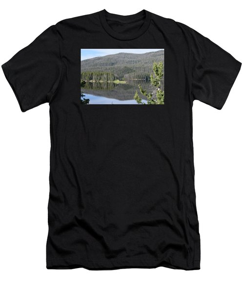 Men's T-Shirt (Athletic Fit) featuring the photograph Chambers Lake Hwy 14 Co by Margarethe Binkley
