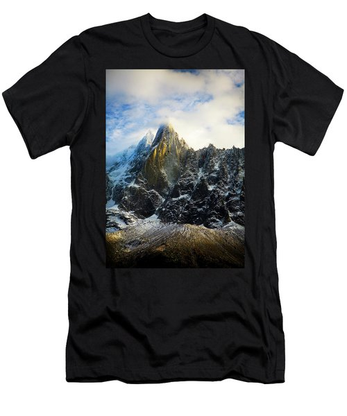 Men's T-Shirt (Athletic Fit) featuring the photograph Chamonix by Lucian Capellaro