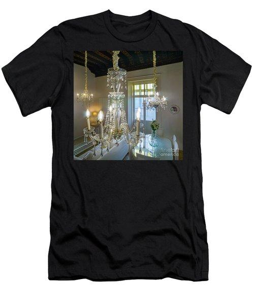 Men's T-Shirt (Athletic Fit) featuring the photograph Chandeliers Transatlantic Company Delegation Cadiz Spain by Pablo Avanzini