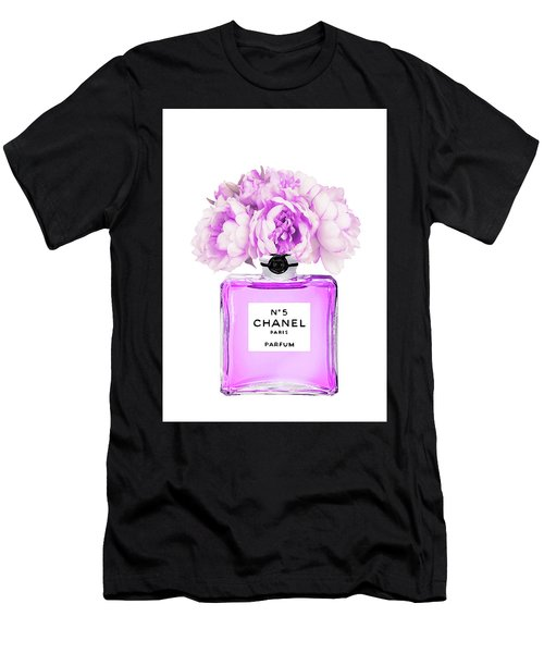 Chanel Print Chanel Poster Chanel Peony Flower Men's T-Shirt (Athletic Fit)