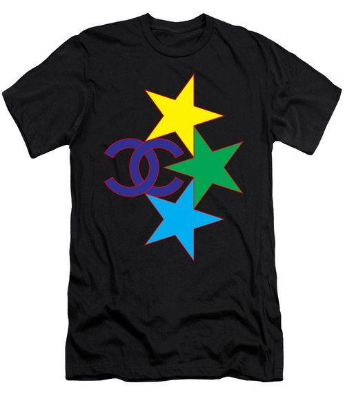 Chanel Stars-1 Men's T-Shirt (Athletic Fit)