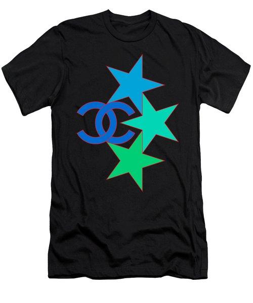 Chanel Stars-3 Men's T-Shirt (Athletic Fit)