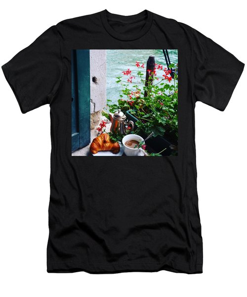 Chanel View Breakfast In Venezia Men's T-Shirt (Slim Fit) by Tamara Sushko