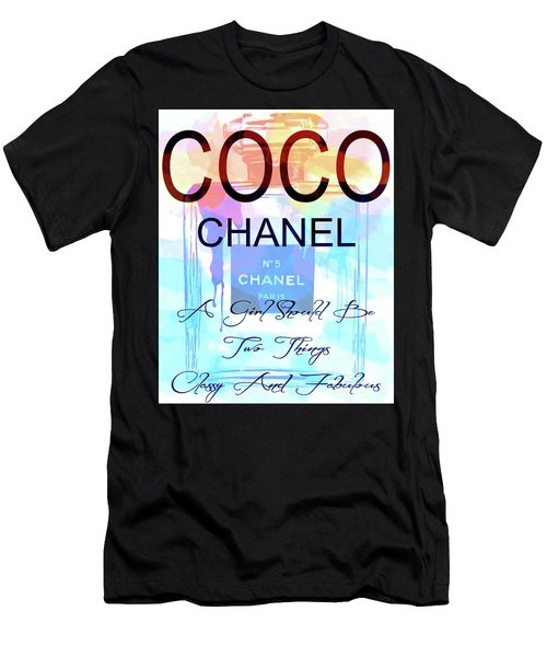 Chanel Watercolor Quote Men's T-Shirt (Athletic Fit)
