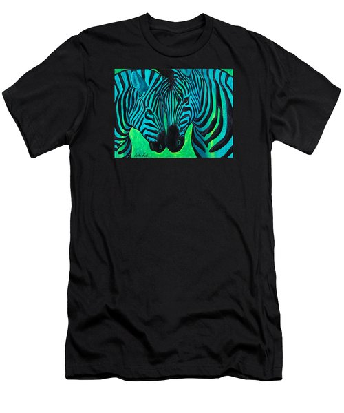Men's T-Shirt (Athletic Fit) featuring the painting Changing Stripes by Dede Koll