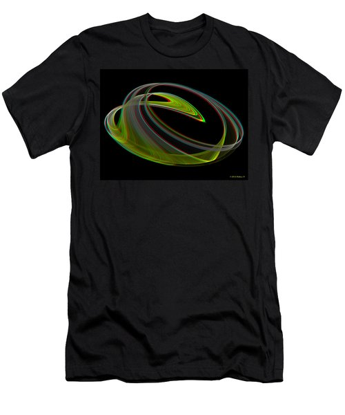 Chaoscope Design 3 - Use Red-cyan 3d Glasses Men's T-Shirt (Athletic Fit)