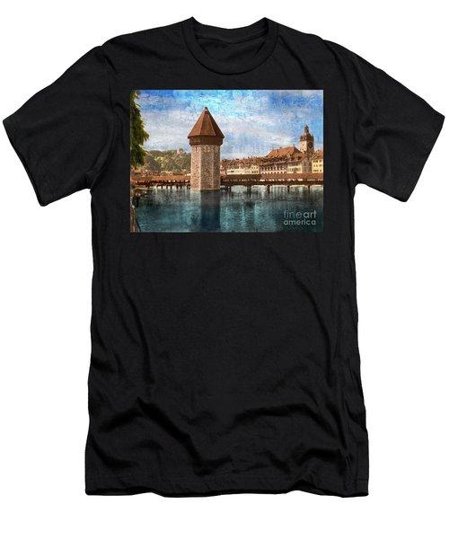 Chapel Bridge In Lucerne Men's T-Shirt (Athletic Fit)