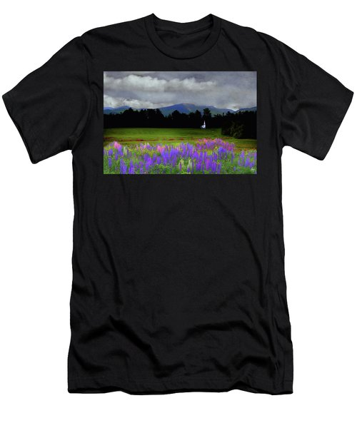 Chapel In The Lupine Mindscape Men's T-Shirt (Athletic Fit)