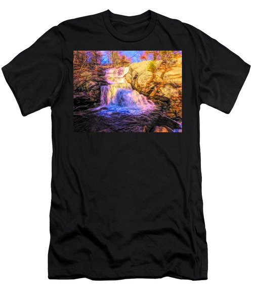 Chapman Falls Connecticut Men's T-Shirt (Athletic Fit)