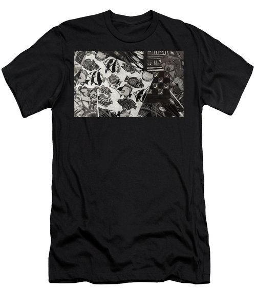 Charcoal Chaos Men's T-Shirt (Athletic Fit)