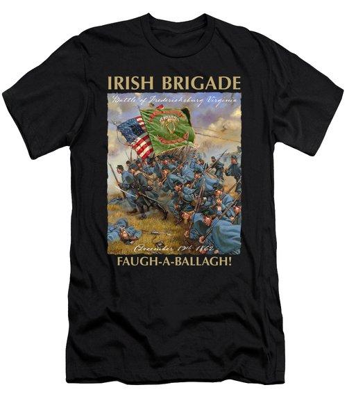 Charge Of The Irish Brigade - 28th Massachusetts Infantry - Battle Of Fredericksburg  Men's T-Shirt (Athletic Fit)
