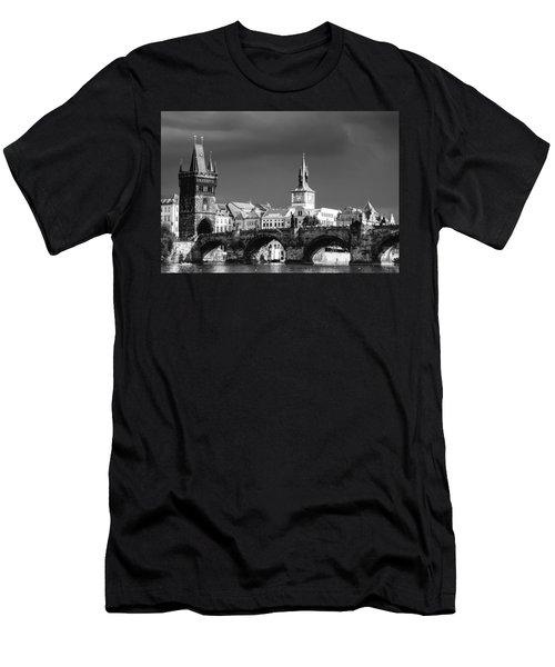 Charles Bridge Prague Czech Republic Men's T-Shirt (Athletic Fit)