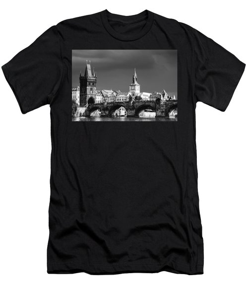 Charles Bridge Prague Czech Republic Men's T-Shirt (Athletic Fit)