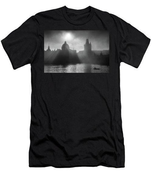 Charles Bridge Towers, Prague, Czech Republic Men's T-Shirt (Athletic Fit)