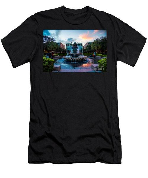 Charleston Pineapple Sunset Men's T-Shirt (Athletic Fit)