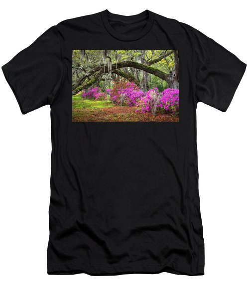 Charleston South Carolina Spring Flowers Lowcountry Landscape Photography Men's T-Shirt (Athletic Fit)