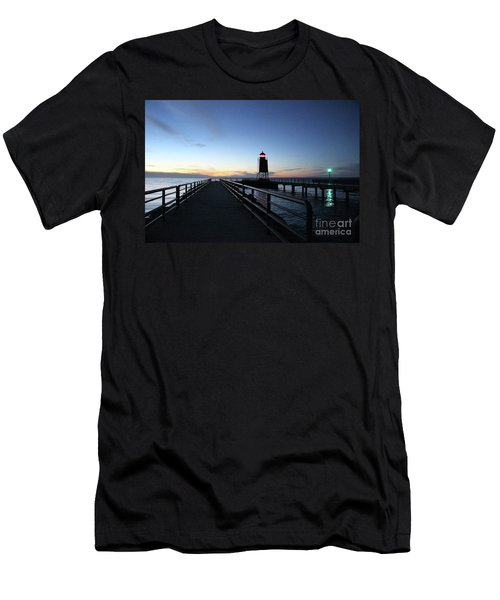 Charlevoix Light Tower Men's T-Shirt (Athletic Fit)