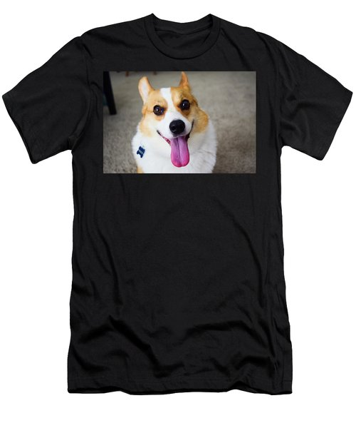 Charlie The Corgi Men's T-Shirt (Athletic Fit)