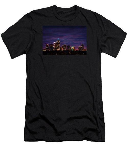 Charlotte, North Carolina Winter Sunset Men's T-Shirt (Slim Fit) by Serge Skiba