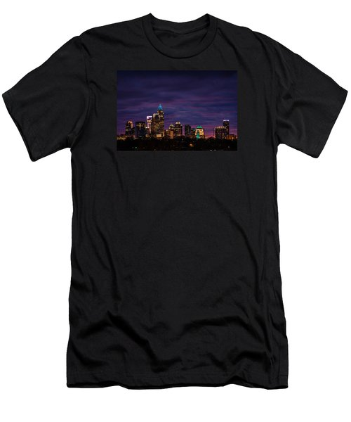 Charlotte, North Carolina Winter Sunset Men's T-Shirt (Athletic Fit)