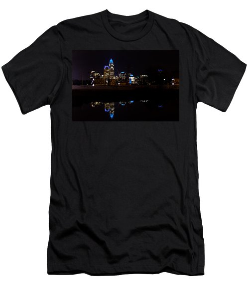 Charlotte Reflection At Night Men's T-Shirt (Athletic Fit)