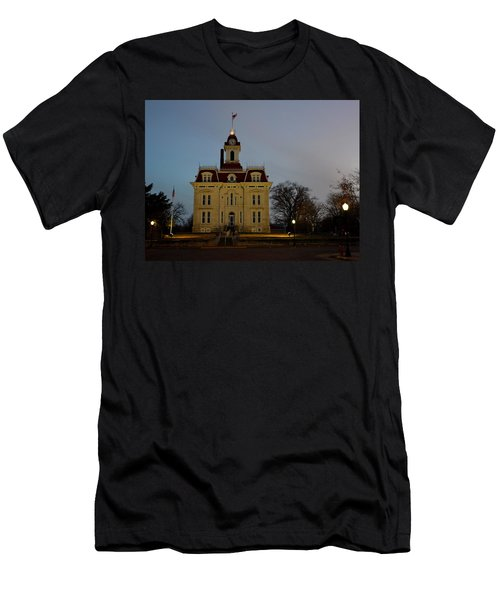 Chase County Courthouse Men's T-Shirt (Slim Fit) by Keith Stokes
