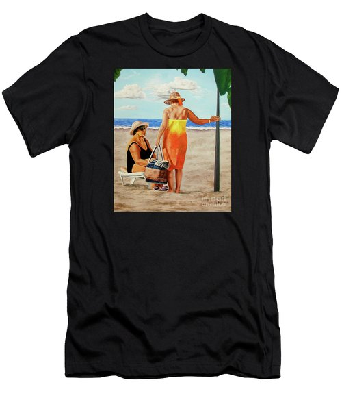 Chat On The Beach - Chat En La Playa Men's T-Shirt (Athletic Fit)