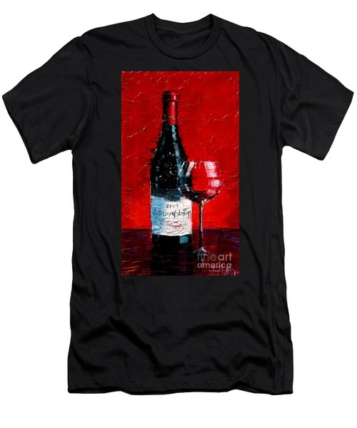 Still Life With Wine Bottle And Glass I Men's T-Shirt (Athletic Fit)