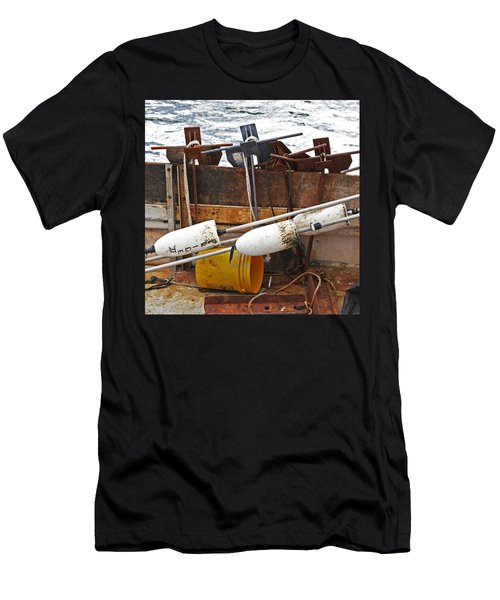 Men's T-Shirt (Slim Fit) featuring the photograph Chatham Fishing by Charles Harden