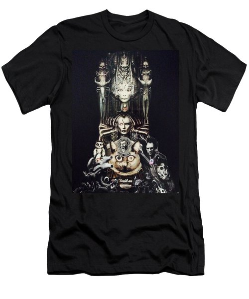 Checker Demon Men's T-Shirt (Slim Fit) by Douglas Fromm