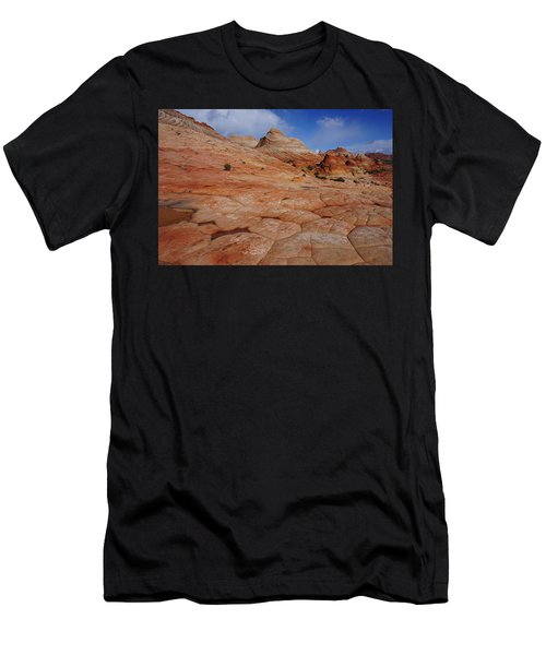 Checkered Red Rock Men's T-Shirt (Athletic Fit)