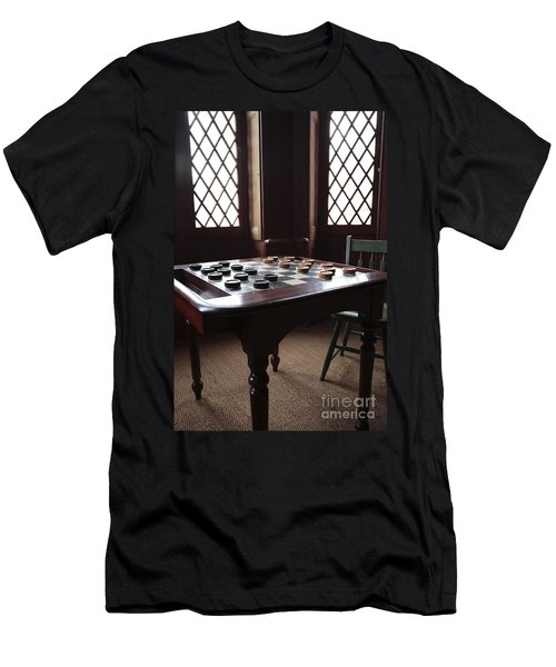 Checkers Table At The Lincoln Cottage In Washington Dc Men's T-Shirt (Athletic Fit)