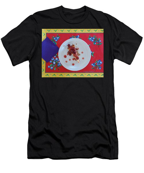 Cheese Cake With Cherries Men's T-Shirt (Athletic Fit)