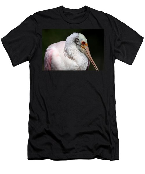 Cheese Puff Face - Roseate Spoonbill Men's T-Shirt (Athletic Fit)