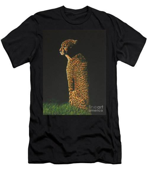 Cheetah At Sunset Men's T-Shirt (Athletic Fit)