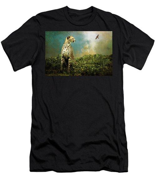 Cheetah Men's T-Shirt (Slim Fit) by Diana Boyd