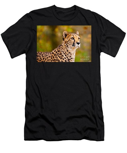 Cheetah In A Forest Men's T-Shirt (Athletic Fit)