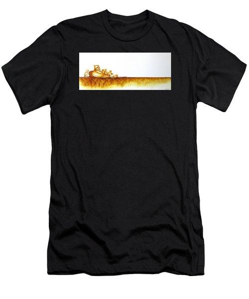 Cheetah Mum And Cubs - Original Artwork Men's T-Shirt (Athletic Fit)