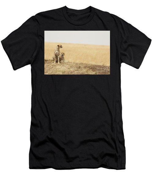 Cheetah Pair In The Masai Mara Men's T-Shirt (Athletic Fit)