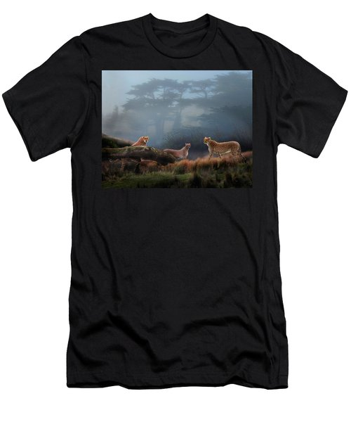 Cheetahs In The Mist Men's T-Shirt (Athletic Fit)