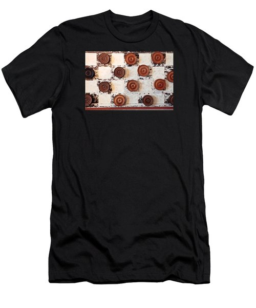 Chequer Board Men's T-Shirt (Athletic Fit)