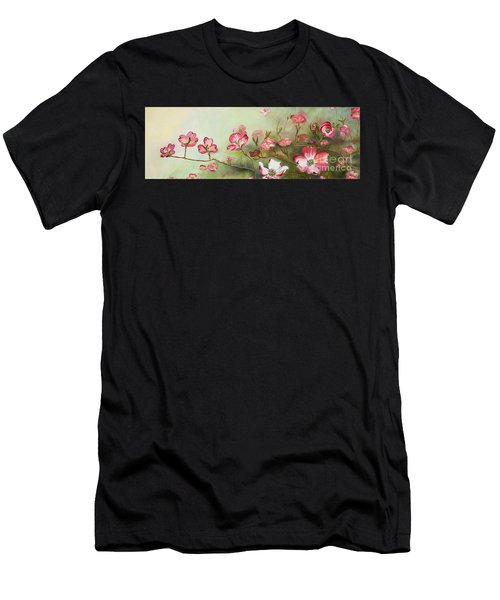 Cherokee Dogwood - Brave- Blushing Men's T-Shirt (Athletic Fit)